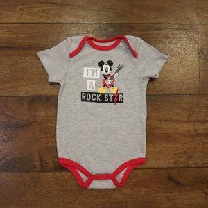 Mickey I'm a Rockstar Onesie